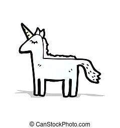 caricatura, unicornio