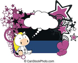 caricatura, unicornio, felpa, valentine
