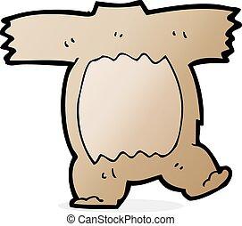 caricatura, urso teddy, corporal, (mix, e, partida,...
