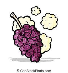 caricatura, uvas