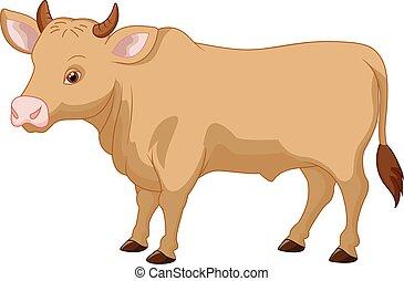 caricatura, vaca