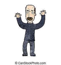 caricatura, zangado, pai