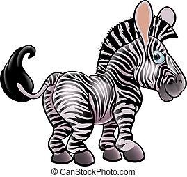 caricatura, zebra