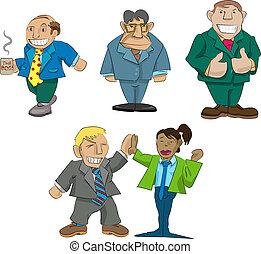 caricaturas, oficina