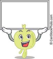 Caricature character of lymph node succeed lift up a board