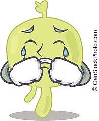 Caricature design of lymph node having a sad face