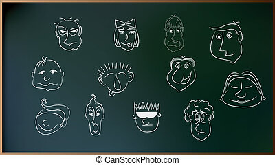 Caricature People in Vector