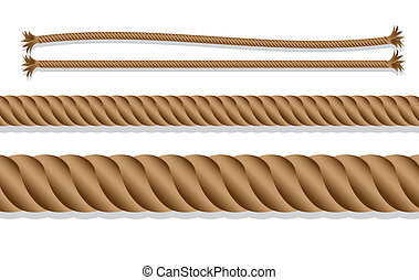 caricatures of braided rope over white background, vector...