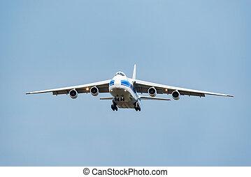 carico, airliner., volo, grande