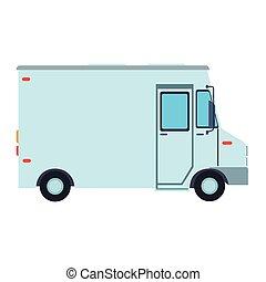 carico, furgone, veicolo