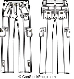 carico, signora, pantaloni