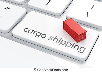 carico, spedizione marittima, concetto