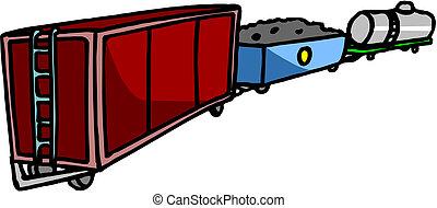 carico, trasporto, locomotiva