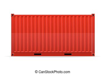 carico, vettore, contenitore, illustrazione