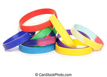 caridad, vario, wristbands, recaudación de fondos