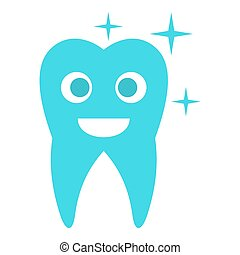 Caried tooth icon, flat style.