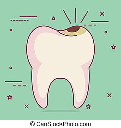 caries dental care icon