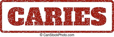 Caries Rubber Stamp
