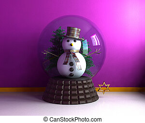 Carillon with cute snowman - 3D
