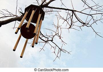 carillones, invierno, viento