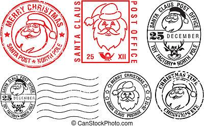 carimbos postais, -, natal, feliz