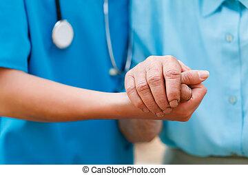 Caring Elderly Concept