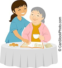 Caring for the elders with a smile