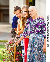 Caring Grandchildren - Caring grandchildren supporting their...