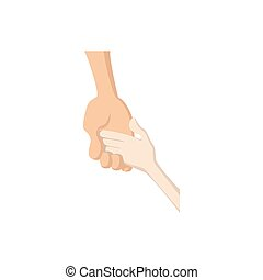 Caring hand logo cartoon icon