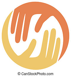Caring hands design.