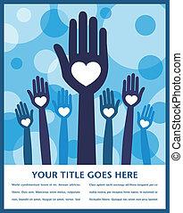 Caring loving hands design. - Caring loving hands design ...