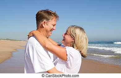 caring middle-age couple