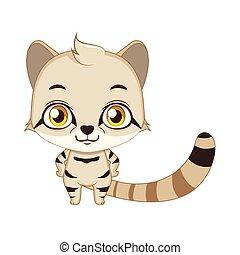 carino, andino, illustrazione, gatto, stilizzato, montagna,...