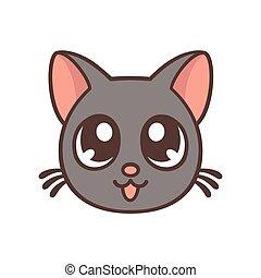 carino, anime, gatto