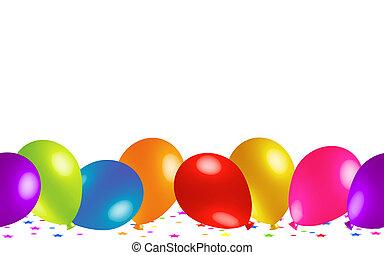 carino, baloons, pavimento