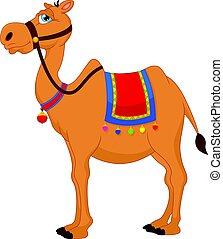carino, cammello, cartone animato