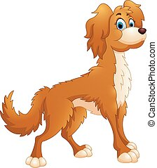 carino, cane, cartone animato