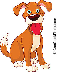 carino, cane, sorridente