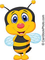 carino, cartone animato, ape