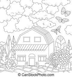 carino, coloritura, tuo, libro, casa