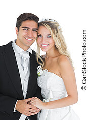 carino, coppia, sposato, proposta, presa a terra, mani