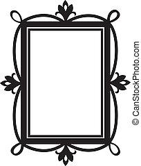 carino, elemento, disegno, frame., scarabocchiare