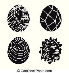 carino, fantastico, magia, simbolo, oggetto, web., isolato, collezione, icon., casato