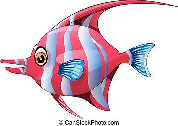 carino, fish, cartone animato