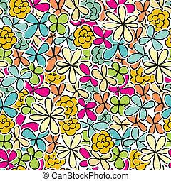 carino, floreale, seamless, fondo