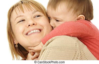 carino, gioco, bambino, madre