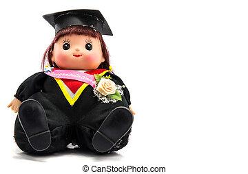 carino, graduazione, ragazza