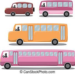 carino, icone, set, :, automobile, /, veicoli, /, transportation.