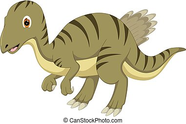 carino, ondeggiare, dinosauro, proposta, ridere, cartone animato