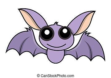 carino, pipistrello, halloween, carattere